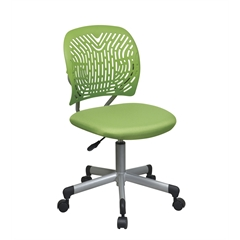 Office Star Designer Task Chair in Green Fabric and Plastic Back