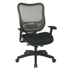Space Seating Latte AirGrid Back and Mesh Seat Executive Chair with Adjustable Arms and Self Adjusting Mechanism