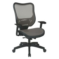 Space Seating Latte AirGrid® Seat and Back Executive Chair with Adjustable Arms and Self Adjusting Mechanism