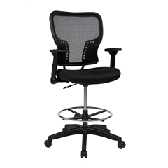Office Star Deluxe Air Grid® Back and Padded Mesh Seat Chair with 4-Way Adjustable Flip Arms