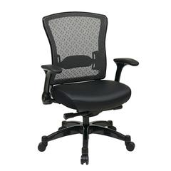 Office Star Executive Eco Leather Back Chair with Flip Arms