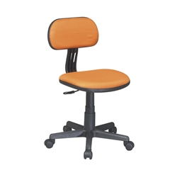 Office Star Task Chair in Orange Fabric