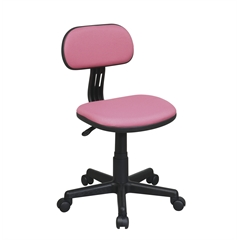 Student Task Chair in Pink Fabric
