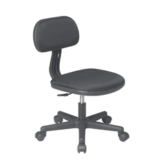 Office Star Task Chair in Black Fabric