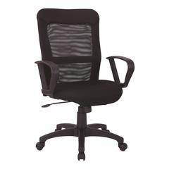 Mesh Screen Back and Mesh Seat Chair with Loop Arms