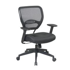 Space Seating Professional AirGrid® Back Managers Chair with Leather Seat