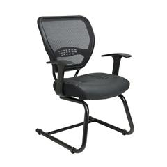 Space Seating Professional AirGrid® Back Visitors Chair with Leather Seat