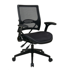 Office Star Professional AirGrid® Back and Seat Managers Chair with Flip Arms and Angled Nylon Base