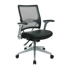 Professional AirGrid® Back and Eco Leather Seat Managers Chair with Flip Arms and Angled Nylon Base