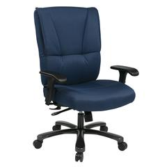Big & Tall Deluxe Executive Chair with Blue Fabric