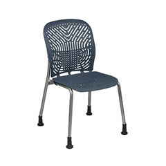 Office Star Deluxe SpaceFlex® Blue Mist Seat and Back Visitors Chair with Platinum Frame and Glides (2-Pack)