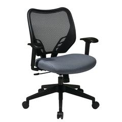 Office Star Blue Mist VeraFlex® Seat and Dark AirGrid® Back Managers Chair