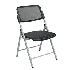 Deluxe Folding Chair With Black ProGrid Seat and Back