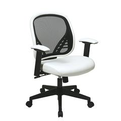 Office Star DuraGrid® Back and White Vinyl Seat Managers Chair