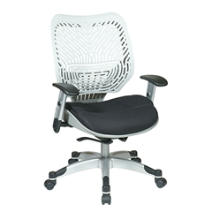 Office Star Unique Self Adjusting Ice SpaceFlex® Back and Raven Mesh Seat Managers Chair
