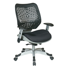 Office Star Unique Self Adjusting Raven SpaceFlex® and Raven Mesh Seat Managers Chair