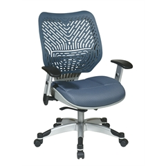 Unique Self Adjusting Blue Mist SpaceFlex Back Managers Chair