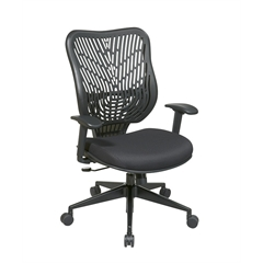 Office Star Unique Self Adjusting Raven SpaceFlex® Back and Raven Mesh Seat Managers Chair