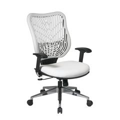 Unique Self Adjusting Ice SpaceFlex® Back and White Vinyl Seat Executive Chair