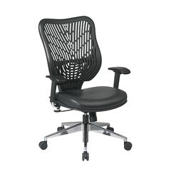Office Star Unique Self Adjusting Raven SpaceFlex®  Back and Black Vinyl  Seat Executive Chair
