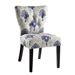 Office Star Andrew Chair in Medallion Ikat Blue