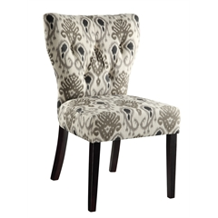 Office Star Andrew Chair in Medallion Ikat Grey