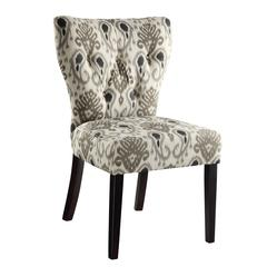 Andrew Chair in Medallion Ikat Grey