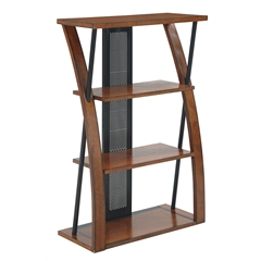 Office Star Aurora  Bookcase with Powder-Coated Black Accents