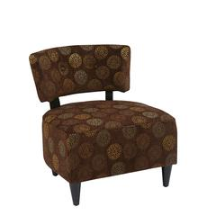 Office Star Boulevard Chair in Blossom Chocolate