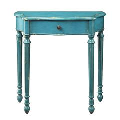 Office Star Kincaid Console Table in Azure Finish