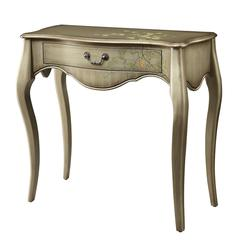 Office Star Renata Console Table in Champagne