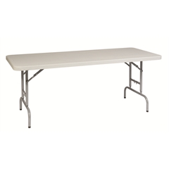 Office Star 6' Height Adjustable Resin Multi Purpose Table