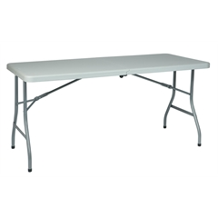 Office Star 5' Resin Multi Purpose Center Fold Table with Wheels