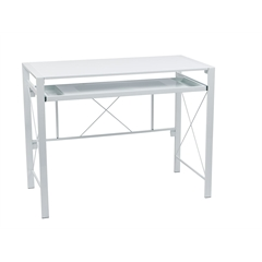 Office Star Creston Desk with White Frame and White Top