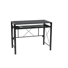 Office Star Creston Desk with Black Frame and BlackTop