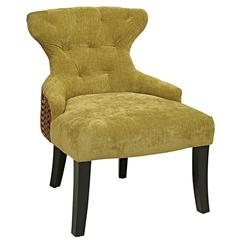 Curves Hour Glass Chair (Two-Tone) in Bennett Basil/Riesling Gemstone
