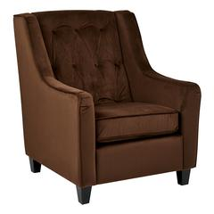 Curves Tufted Back Armchair