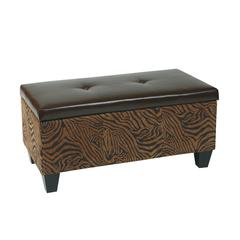 Office Star Detour Storage Bench in Wild Espresso