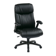 Office Star Executive Eco Leather Chair in Titanium/Black