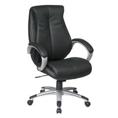 Work Smart Executive High Back Black Eco Leather Chair