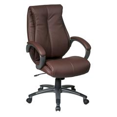 Work Smart Executive High Back Wine Eco Leather Chair