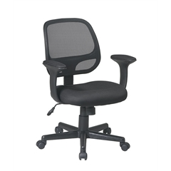 "Office Star Screen Back Task Chair with ""T"" Arms"