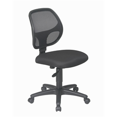 Office Star Mesh Screen Back Task Chair with Fabric Seat
