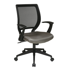 """Office Star Screen Back Task Chair with """"T"""" Arms"""