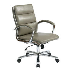 Office Star Mid Back Executive Smoke Faux Leather Chair