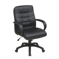 Mid Back Faux Leather Executive Chair