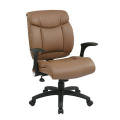 Office Star Faux Leather Managers Chair with Flip Arms
