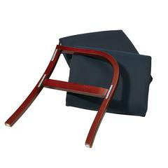 Office Star Cherry Finish Modular Single Add-On Kit with Blue Fabric