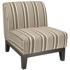 Glen Chair in Mocha Stripe