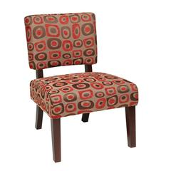 Jasmine Accent Chair in Twilight Red